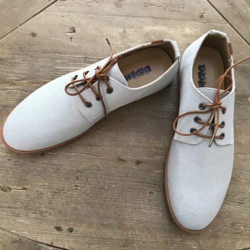 Dadawen Mens Linen Oxfords Lace Up Size US 11 EUR 44 Gray We