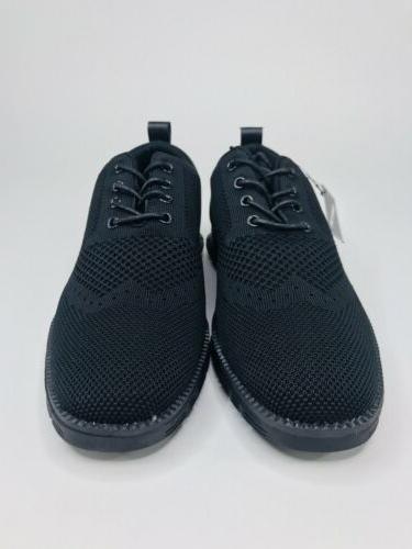 Franco Mens Mesh Memory Fashion Sneakers - Black