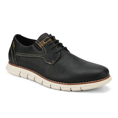 men genuine leather oxford dress sneakers casual