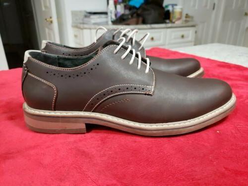 mens preston lace up oxford shoes sz