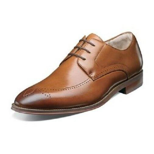Stacy Adams Mens Shoes Ballard Plain Toe Oxford Lace Up Tan