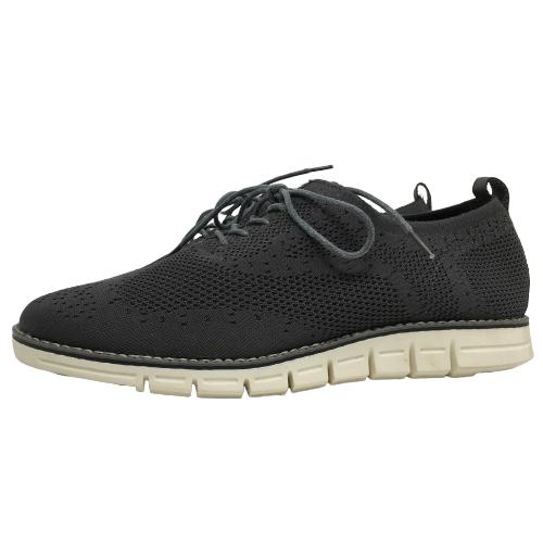 mens shoes gray knit oxford goods