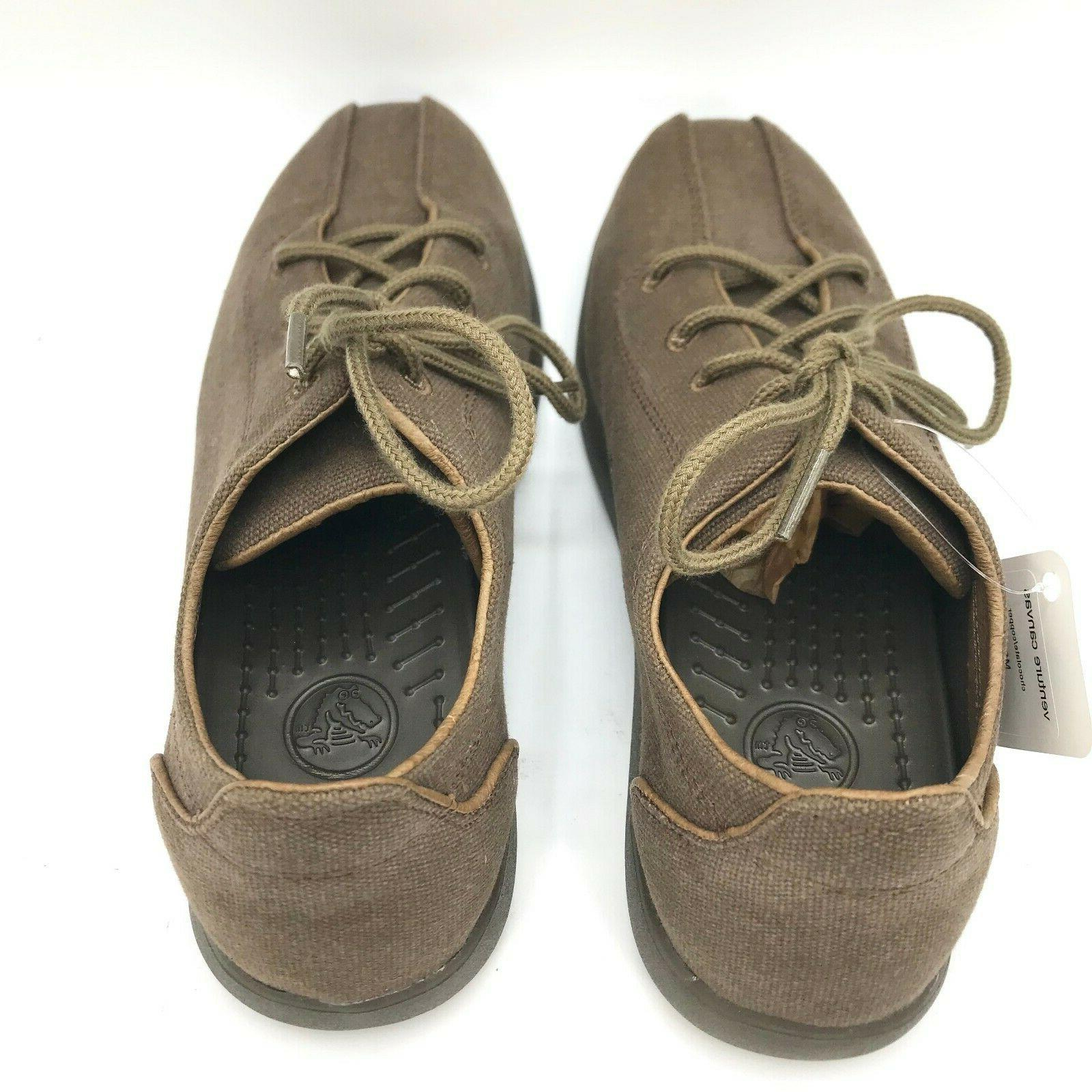 CROCS Mens Venture Canvas Chocolate Up Shoe