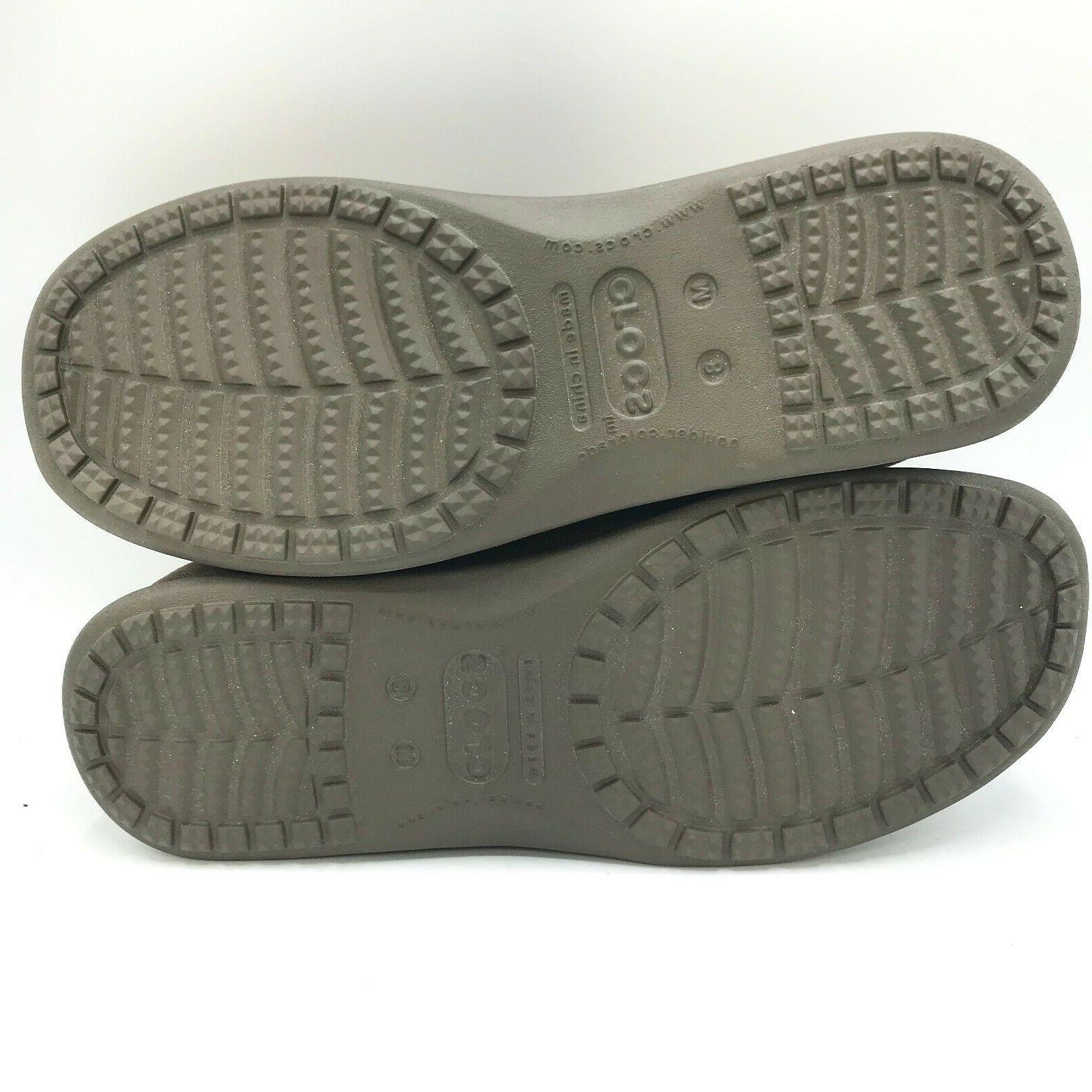 CROCS Mens Venture Canvas Oxford Up Shoe Size