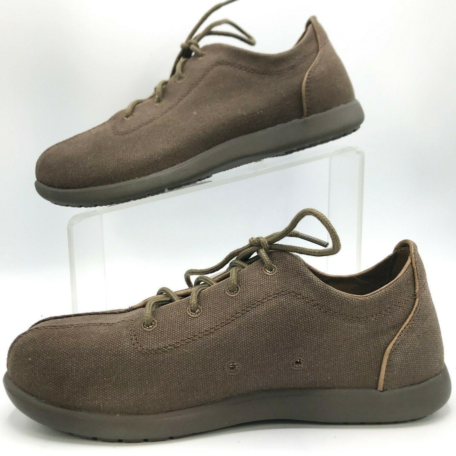 CROCS Canvas Chocolate Lace Up Shoe
