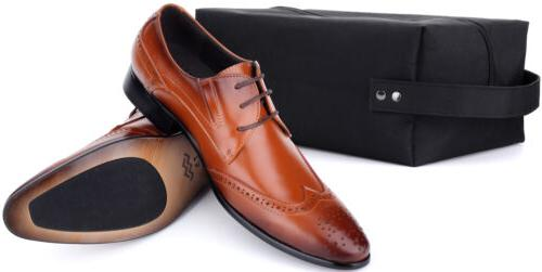 Mio Marino Mens Shoes, Oxford Shoes, Leather in Bag