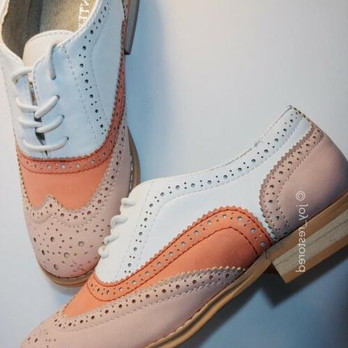 """NEW Wanted """"Babe"""" Up Oxfords- Coral-Womens Sz6"""