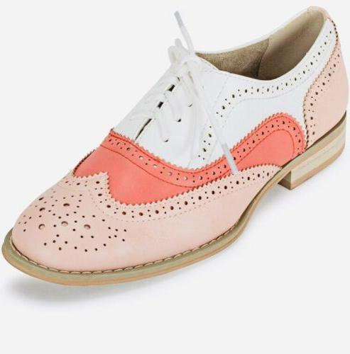 new babe lace up oxfords white