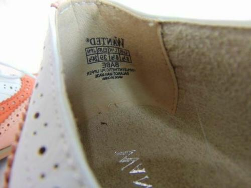 New Pink White Orange Shoes 8.5