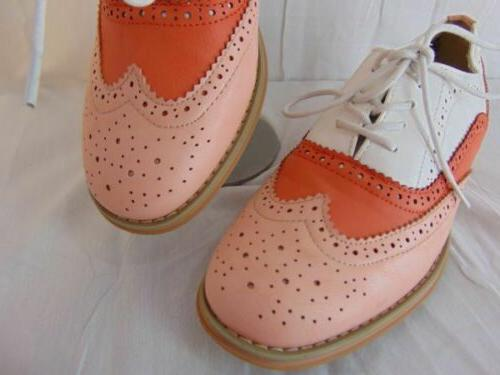 New Wanted Babe Pink White Orange 8.5 Womens Perforated