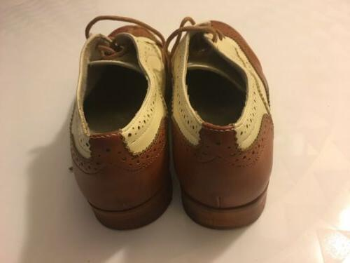 NEW WANTED SHOES TAN CLASSIC OXFORD US 7