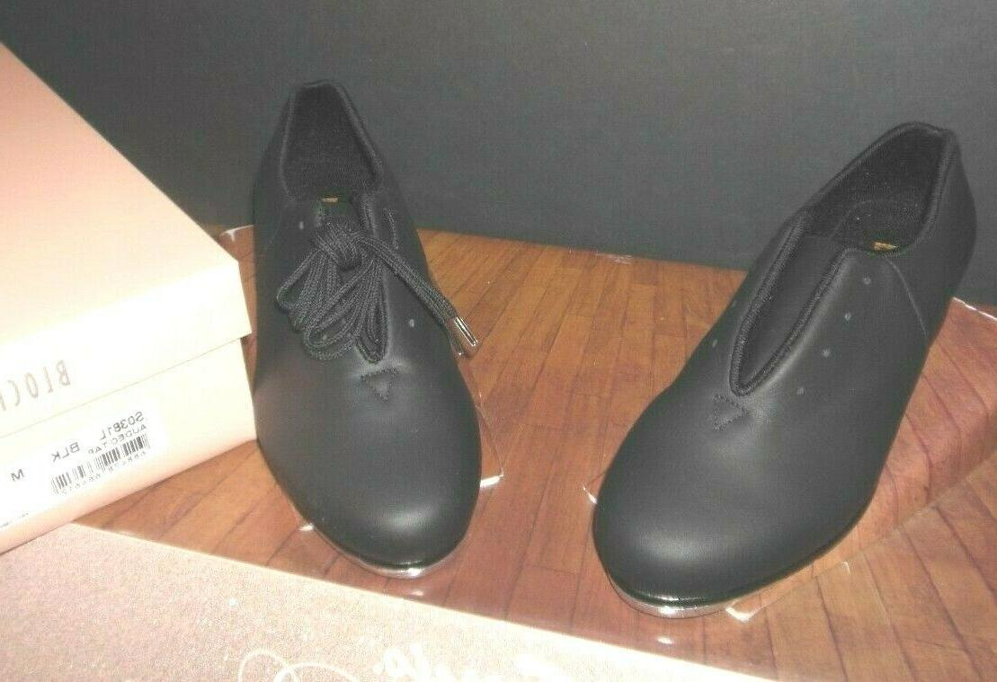 New/Box Bloch S0381L Ladies Black Tap Oxford shoes