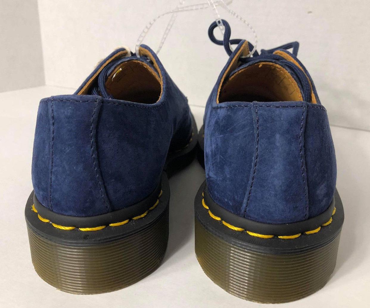 NEW Martens Womens 5 Men 4 Classic 3Eye Oxford Shoes Blue $120