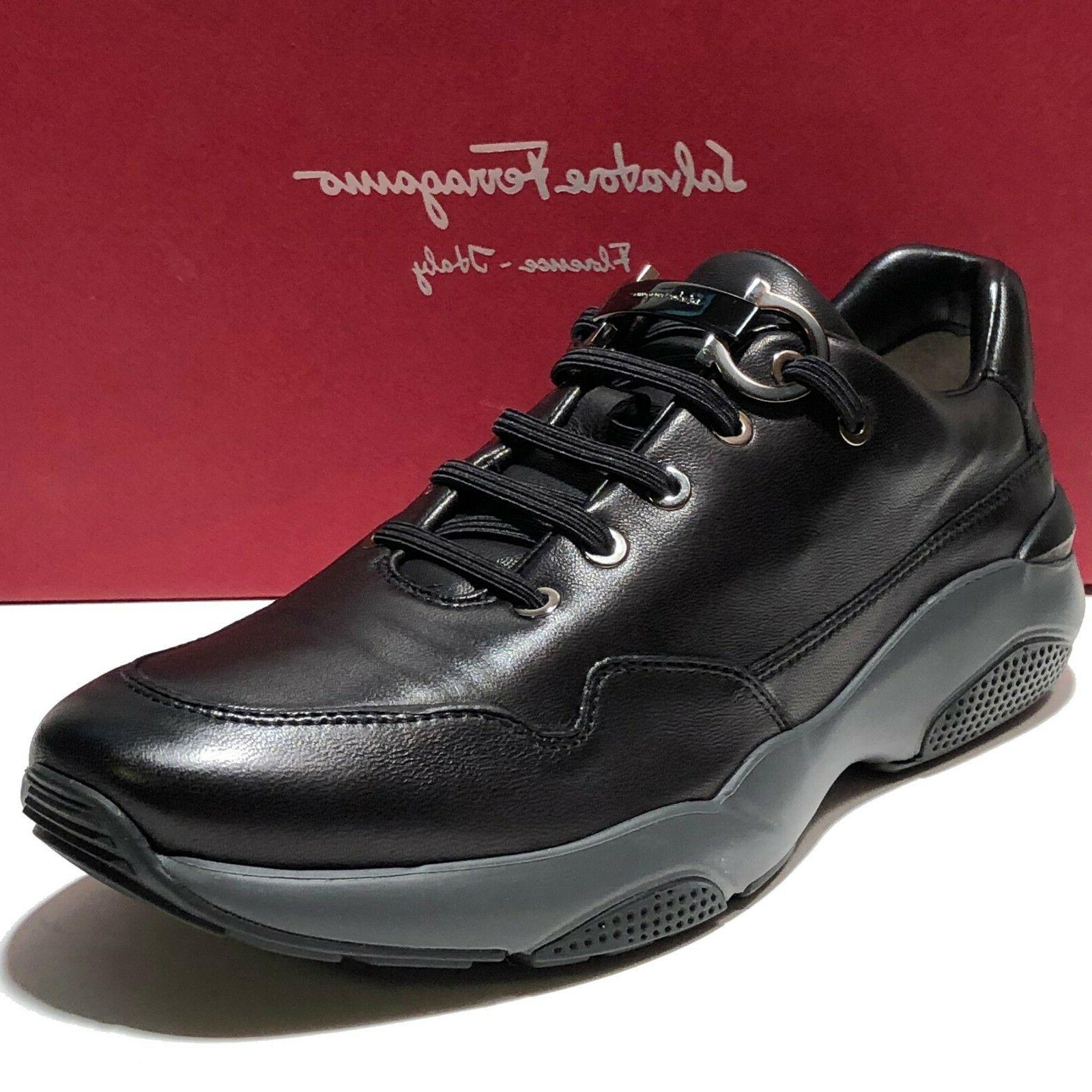 Ferragamo Gancini Sneakers 10.5 EE 43.5 Men's Nappa Leather