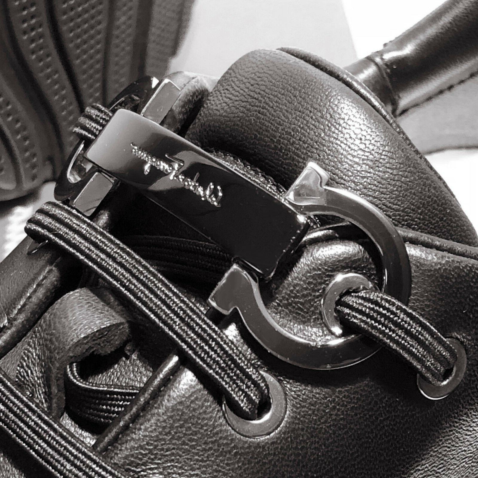 NIB Ferragamo Gancini FLUSHING Sneakers Men's Nappa Leather