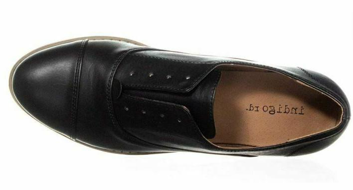 NEW Indigo Women's Hacksy Toe Oxford Shoes Black - 8.5 M