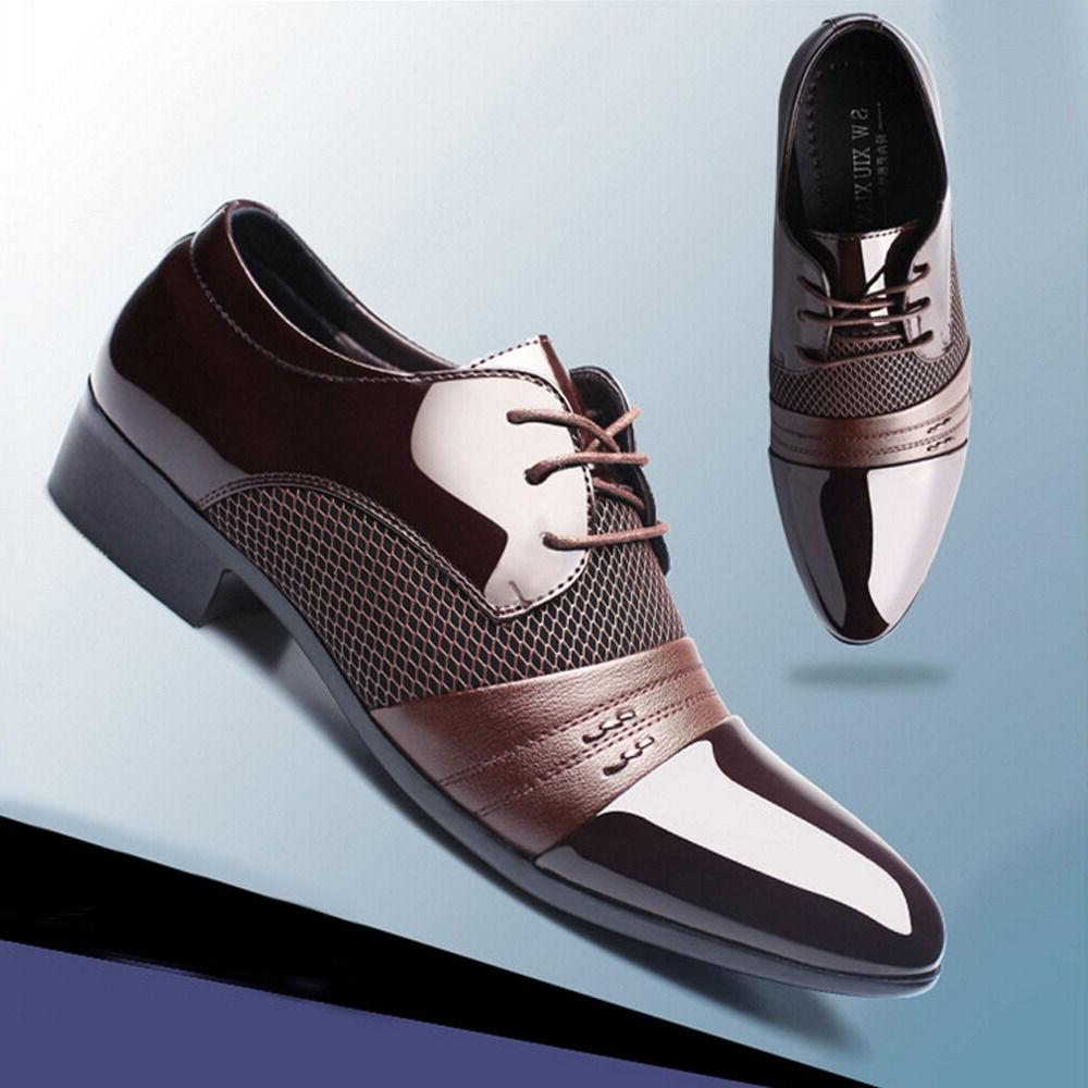 New Men Leather Oxford Dress Shoes Casual Fashion Shoes