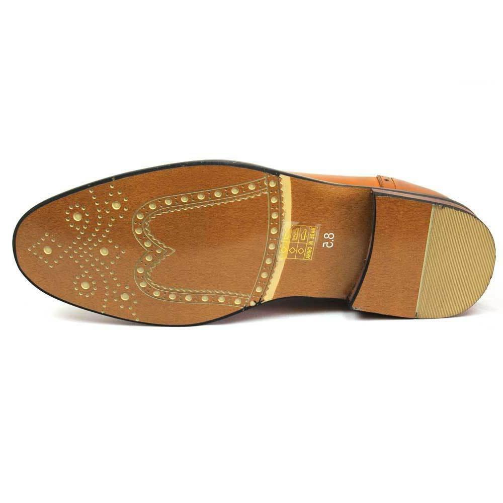 New Brown Shoes Cap Lace Up Oxfords Parrazo