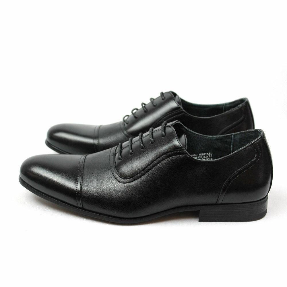 New Black Shoes Cap Toe Oxfords LeatherLining