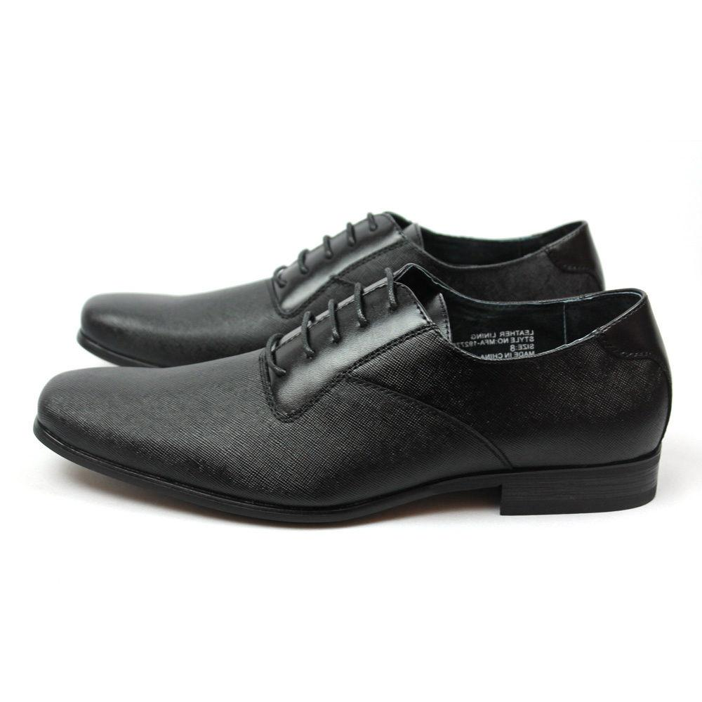 New Black Herringbone Leather NEW