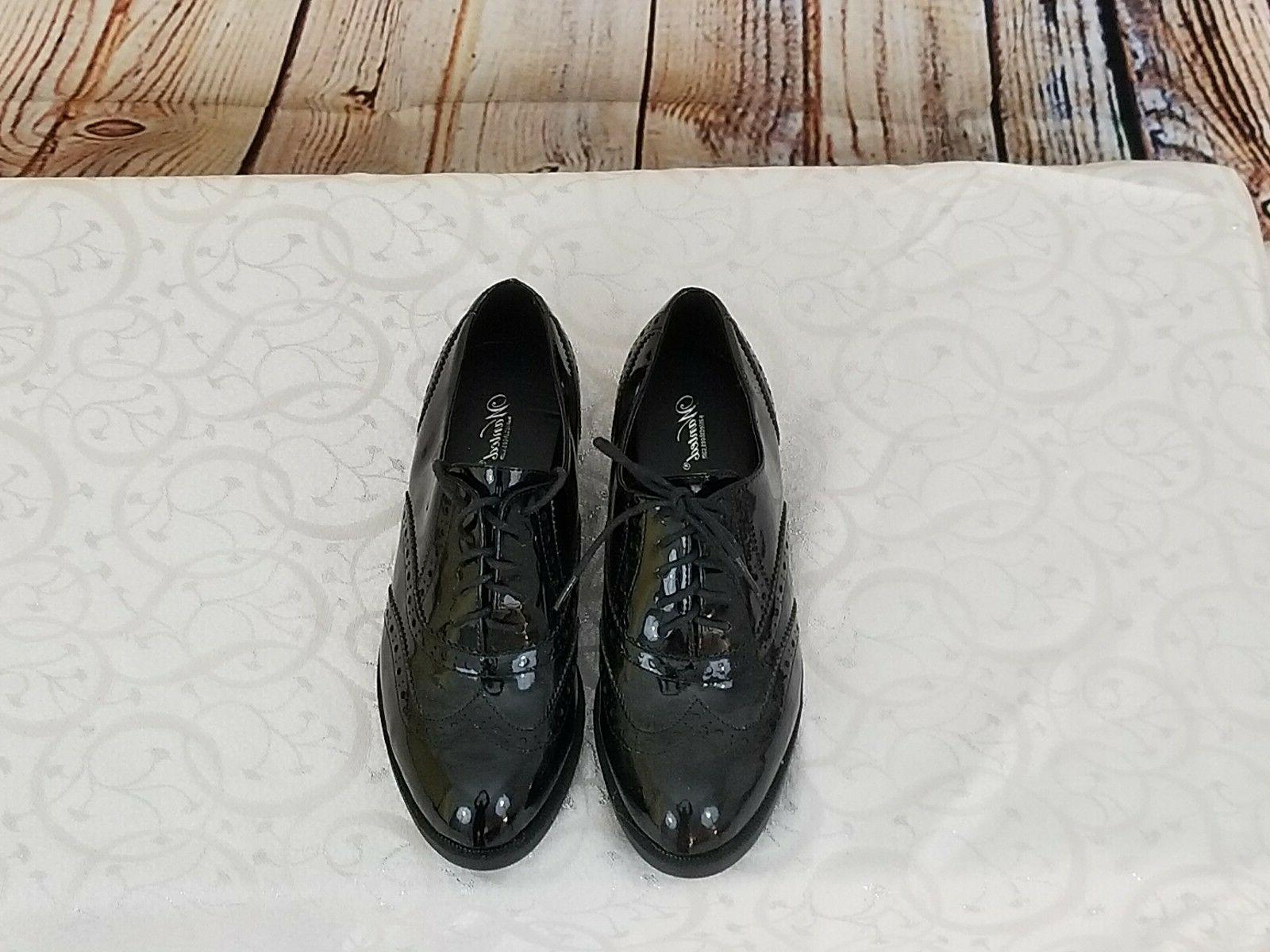 New Oxford Faux Patent Shoe 6