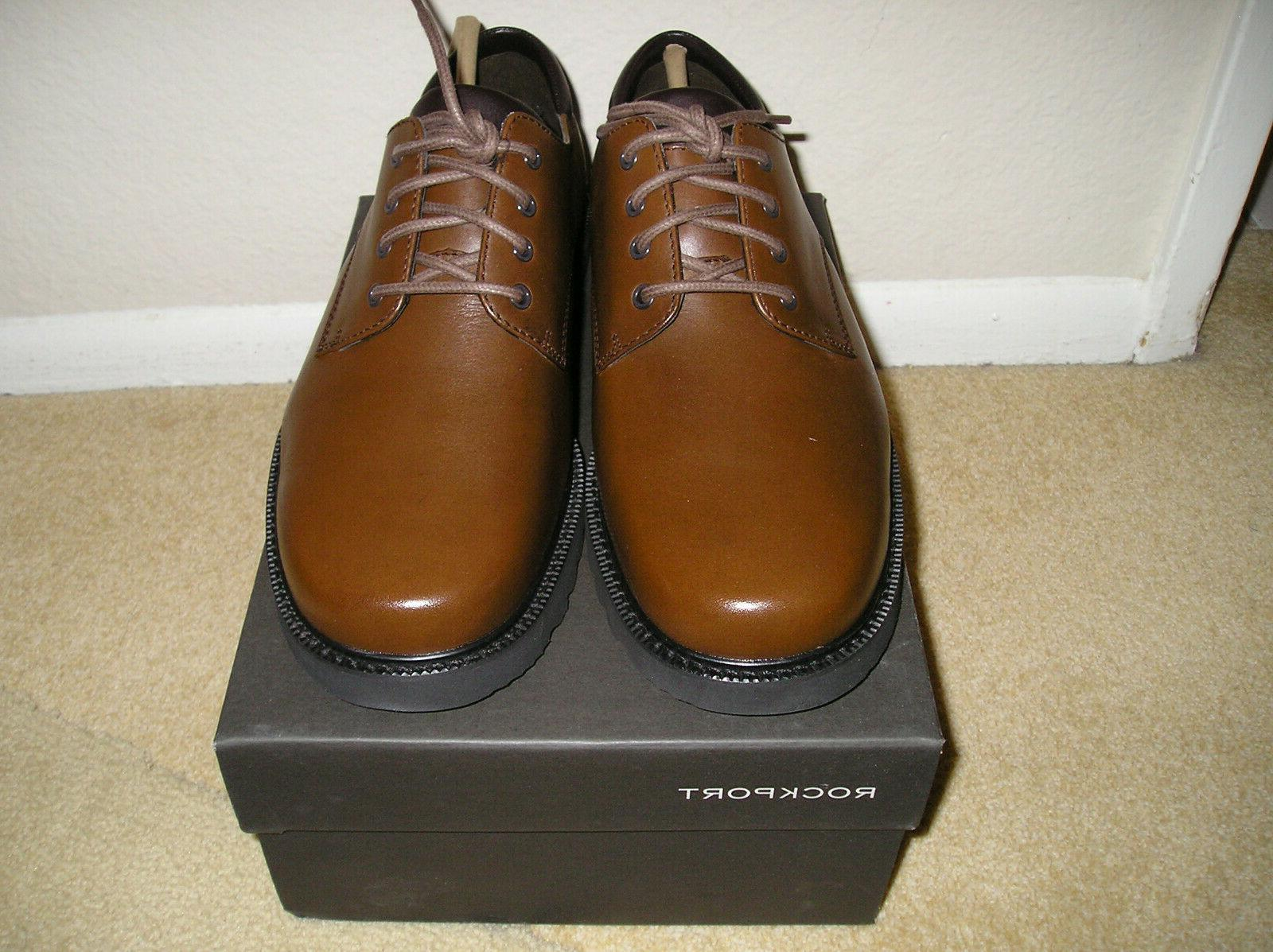 NIB ROCKPORT BROWN LEATHER CASUAL DRESS SHOES SIZE 9.5