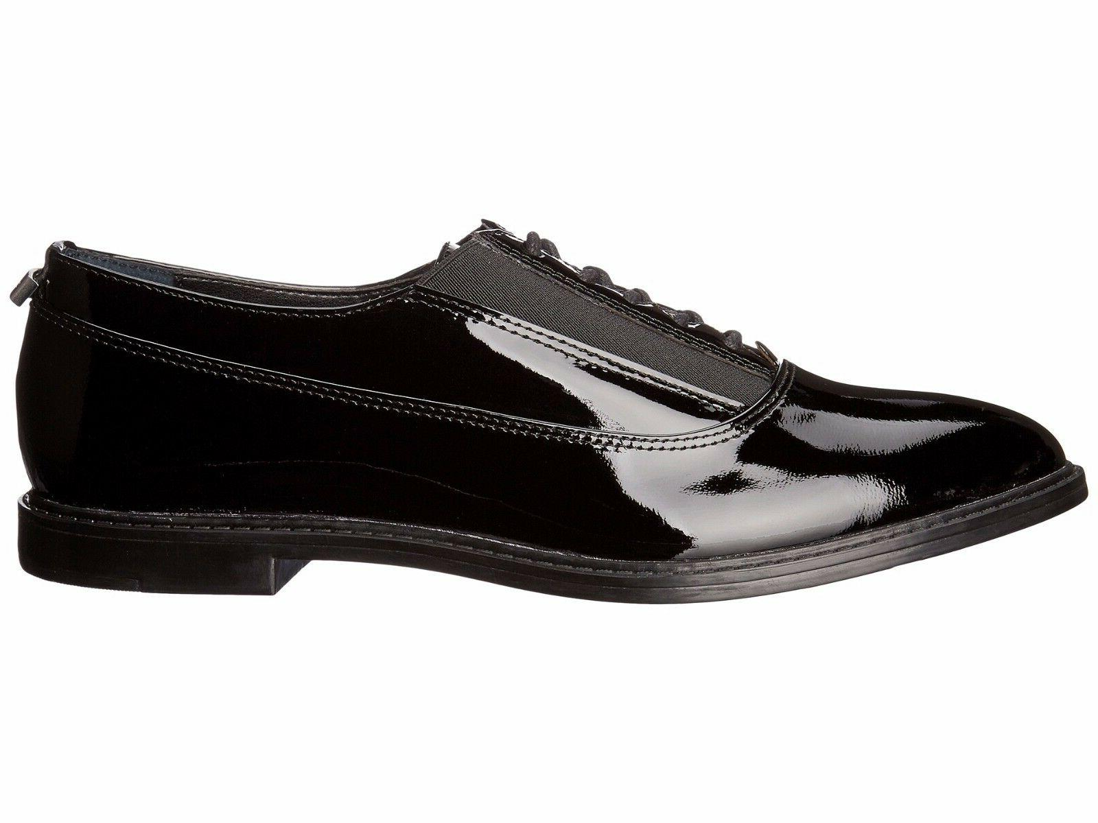 NIB Calvin Klein Women Della Black Patent Leather Oxfords Sh