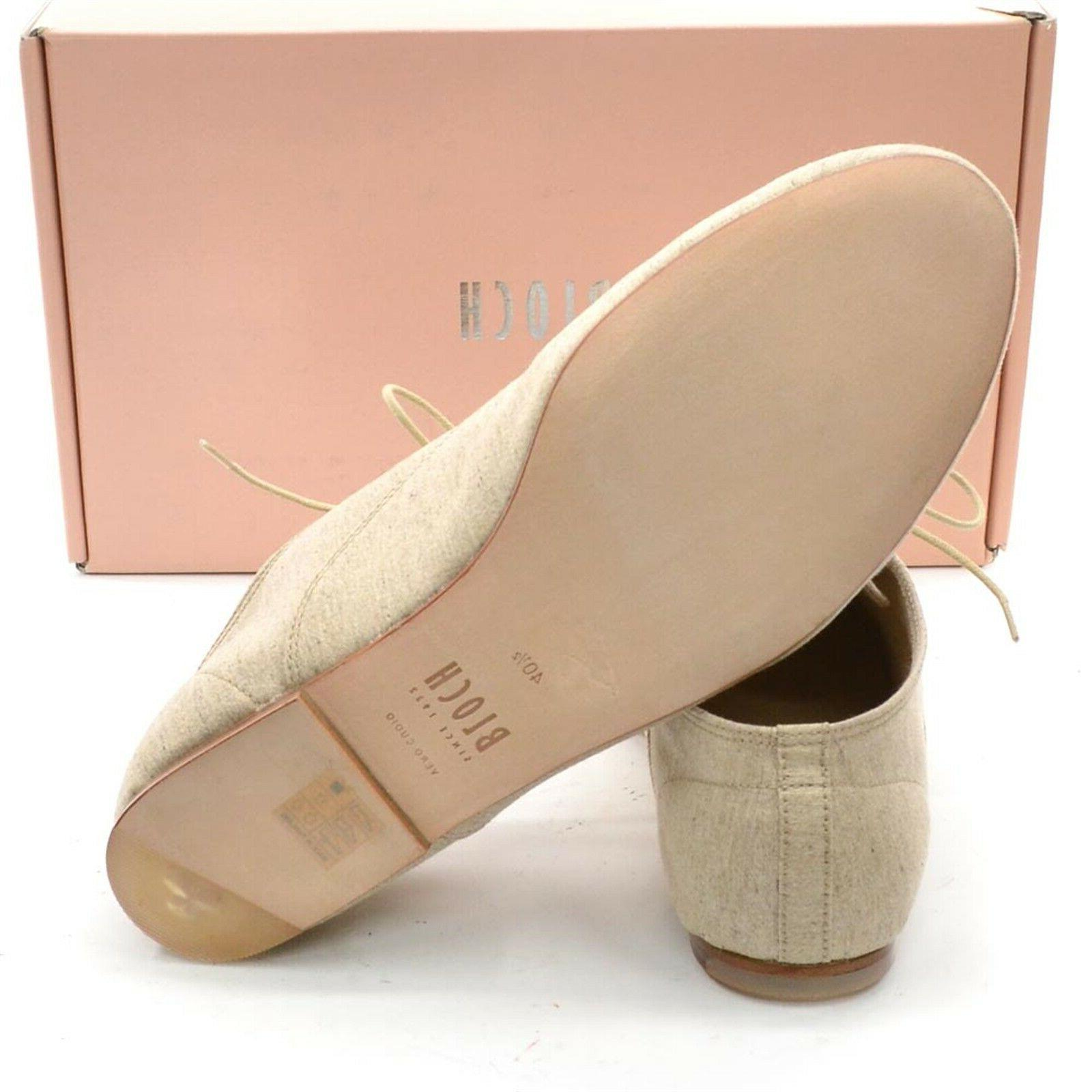 BLOCH Nora Womens 40.5 10 Natural Cotton Canvas New