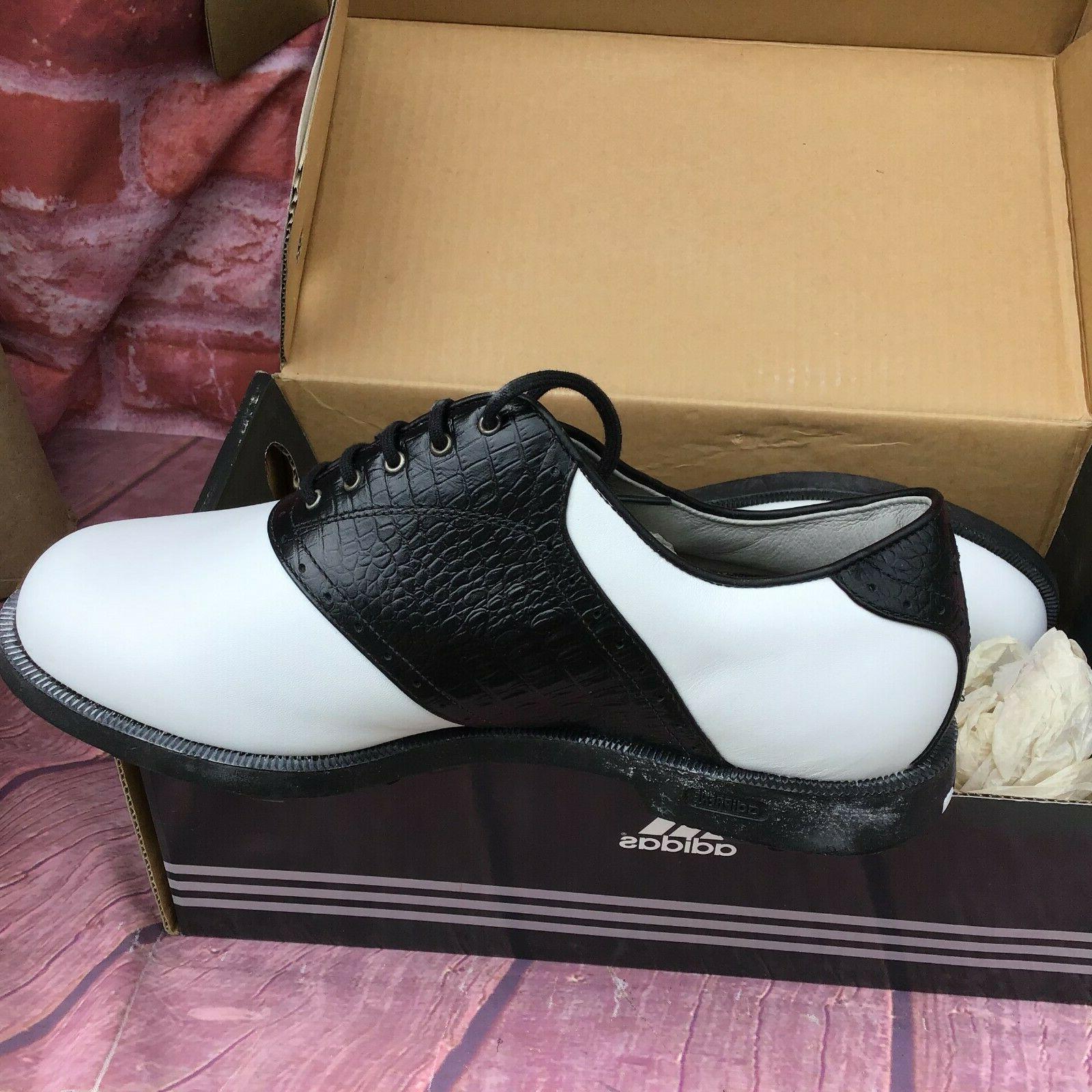 NWB Adidas Men's Sz 8 Black/White Golf Shoes