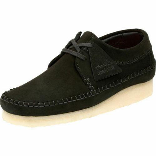 Clarks Originals Men's Weaver Black Suede Casual Oxford Shoe