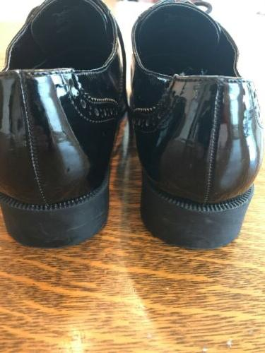 Wanted Leather Black Dress Shoes 8 Wear