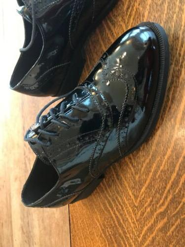 Wanted Faux Patent Leather Black Dress Shoes Wear