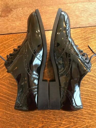 Wanted Leather Black Shoe 1/2 Career Wear