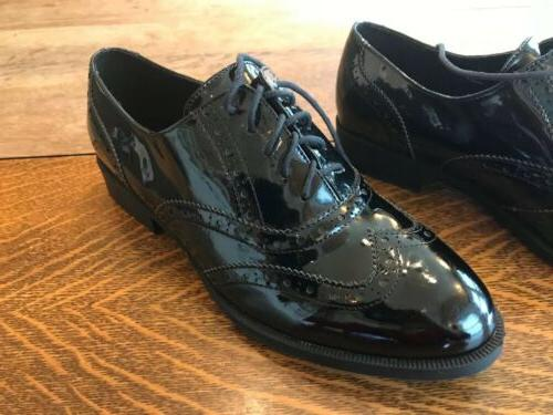 Wanted Oxford Patent Leather Black Ladies Shoes Wear