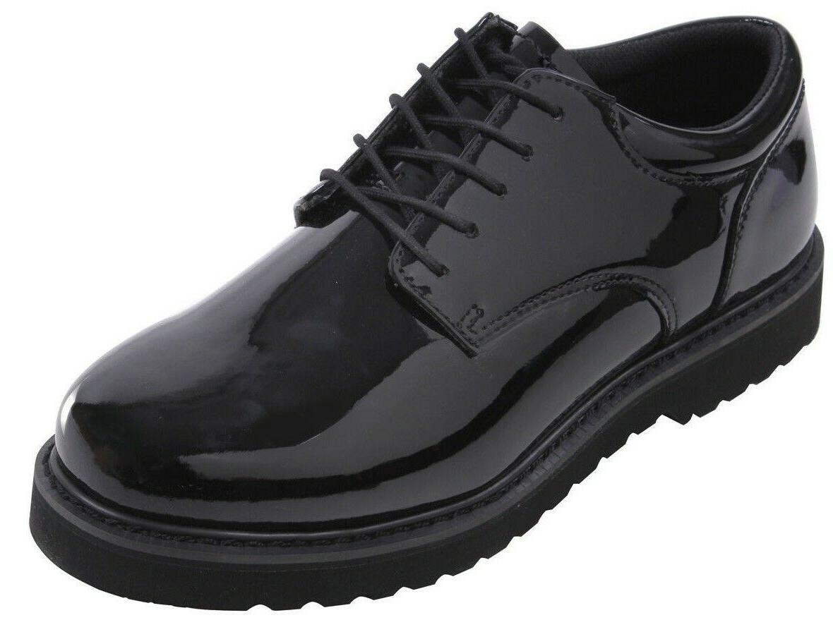 oxford uniform shoes poromeric leather high gloss