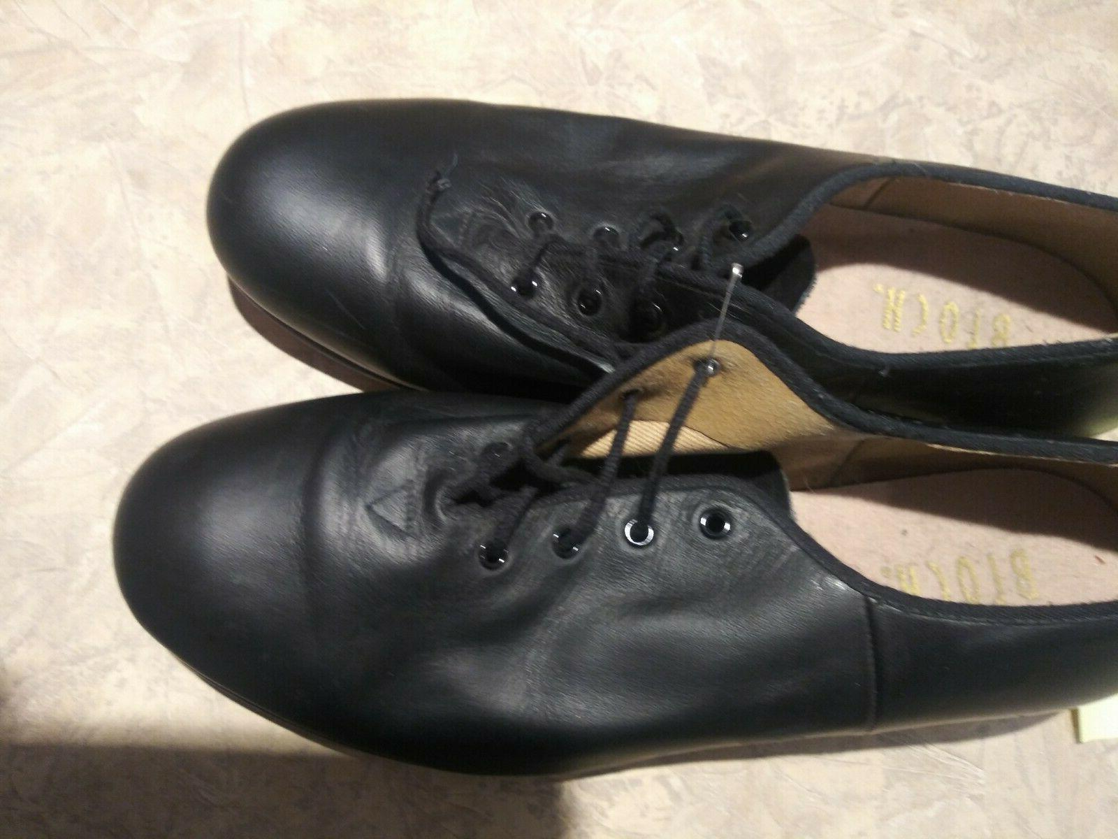 Pre-owned Bloch Black Oxford Character Shoe Size 8