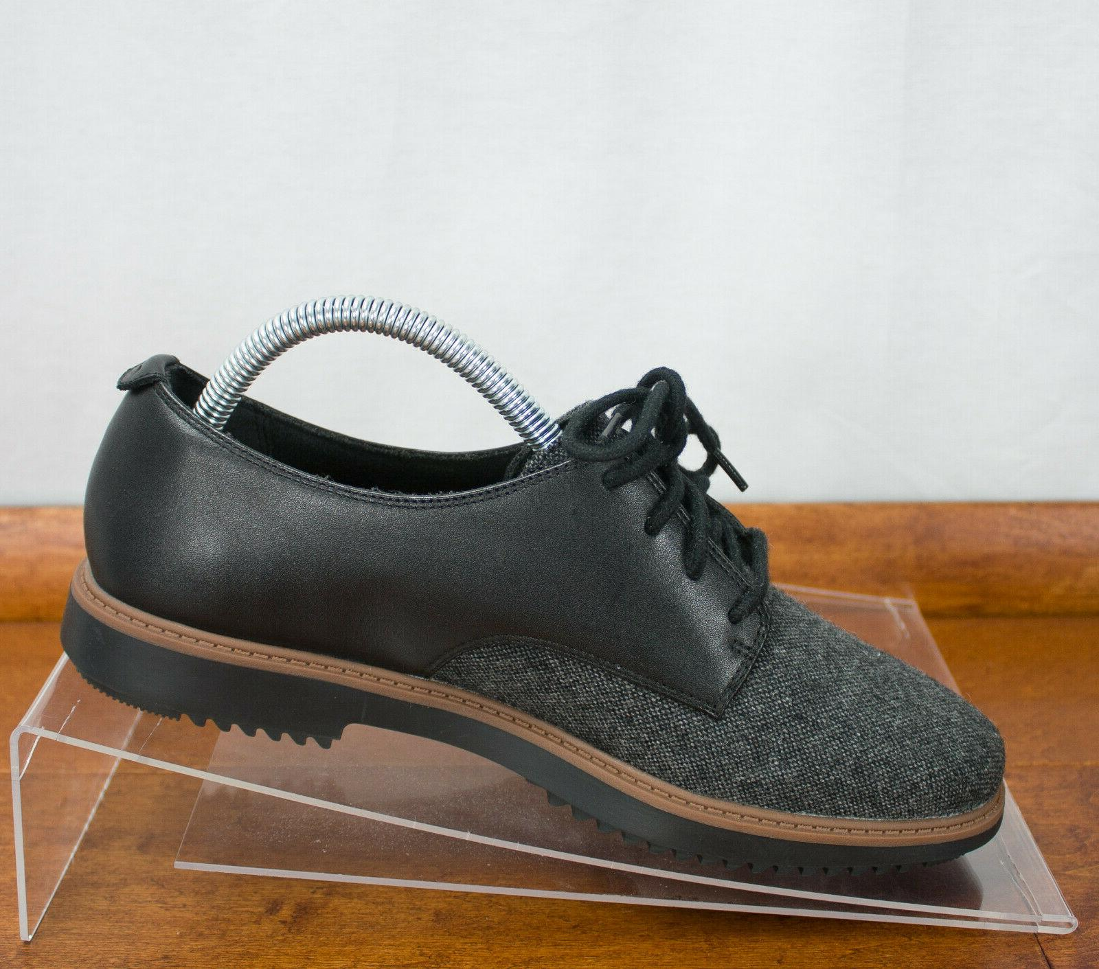 Clarks Raisie Leather Lace Up Oxford Shoes Size