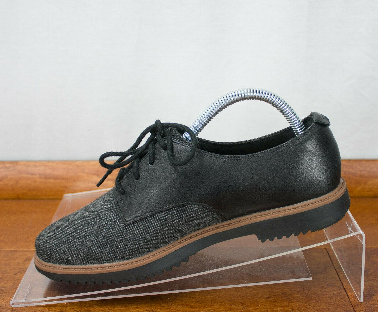 Clarks Raisie Leather Tweed Lace Up Oxford Size