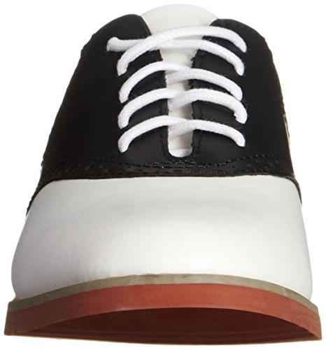 Eastland Women's Oxford, Black/White,