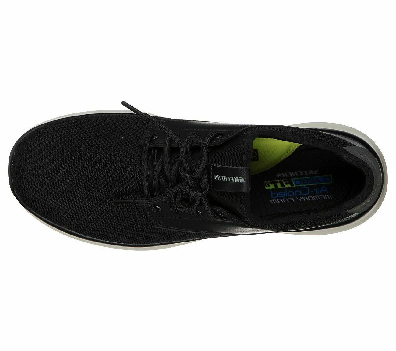 Skechers Black Memory Foam Casual Oxford 66272