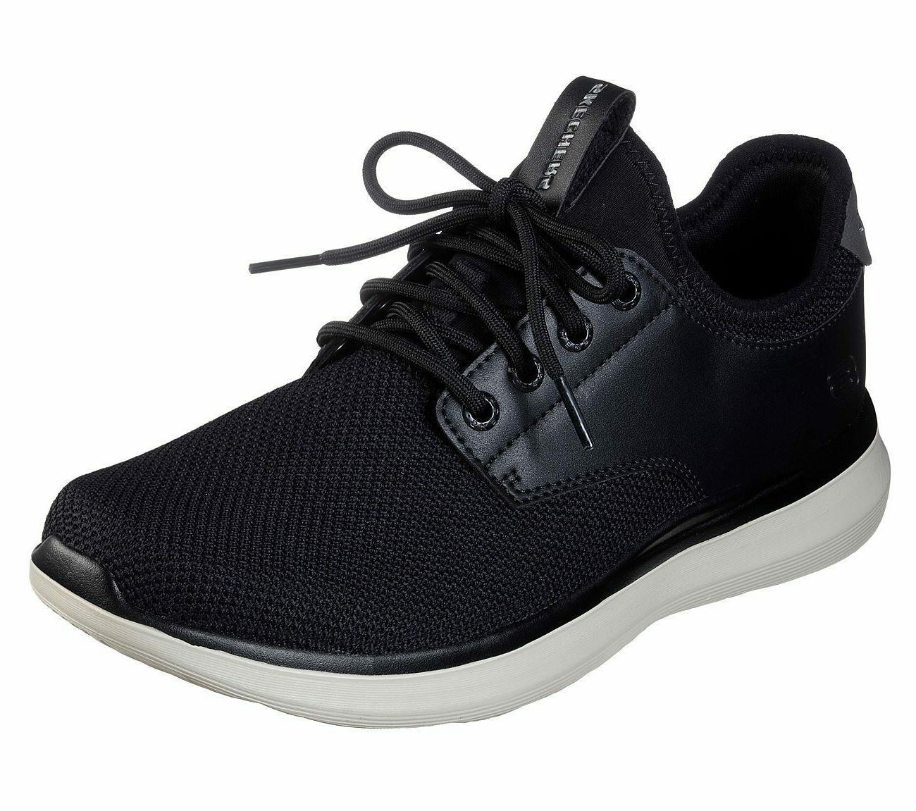 shoes men black memory foam casual comfort