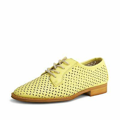 Wanted Shoes Women's Perforated Cutout Oxford