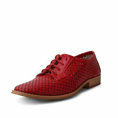 Wanted Shoes Perforated Cutout Oxford