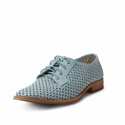 Wanted Shoes Perforated Cutout Lace-up Oxford