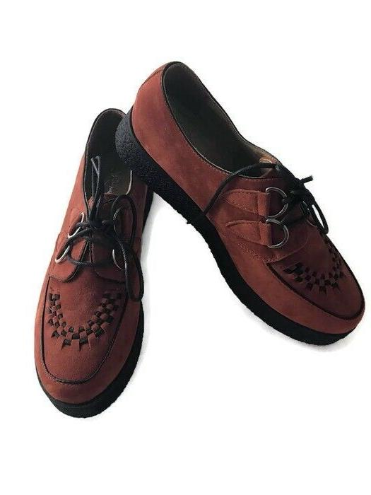 Wanted Shoes Pringle Oxford Toe Blue/Rust/Leopard