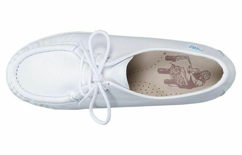 SAS White Leather - 10.5 M - Laces