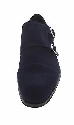 Stacy Adams Slocomb Blue Suede Strap Oxford Leather Dress Shoes