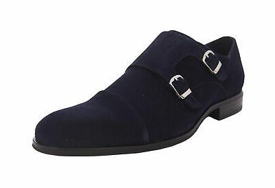 slocomb blue suede cap toe monk strap
