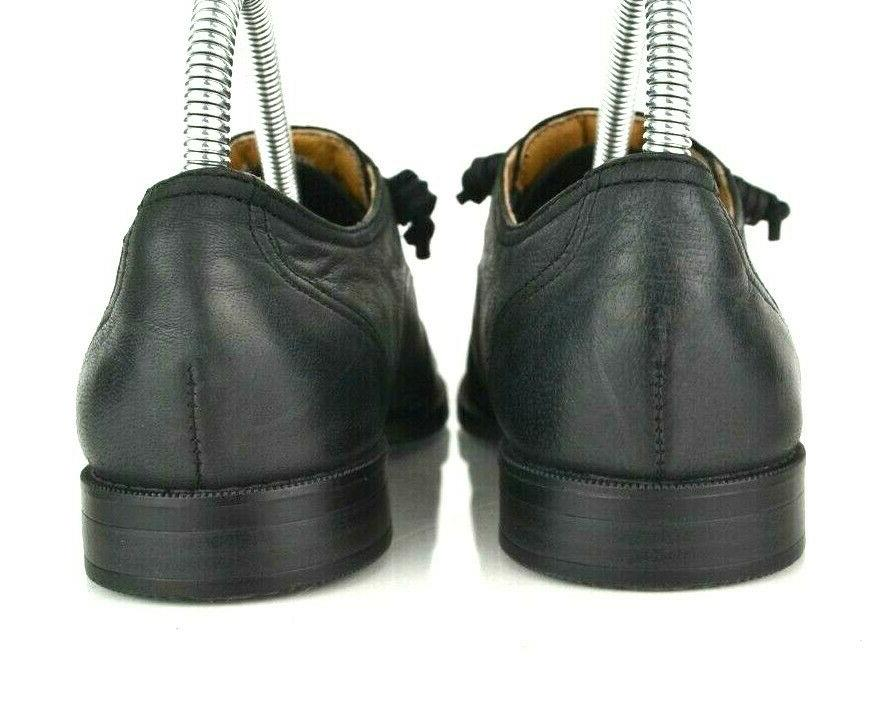 Sperry Womens 7 Black Leather Slip On Wing Oxford Flats