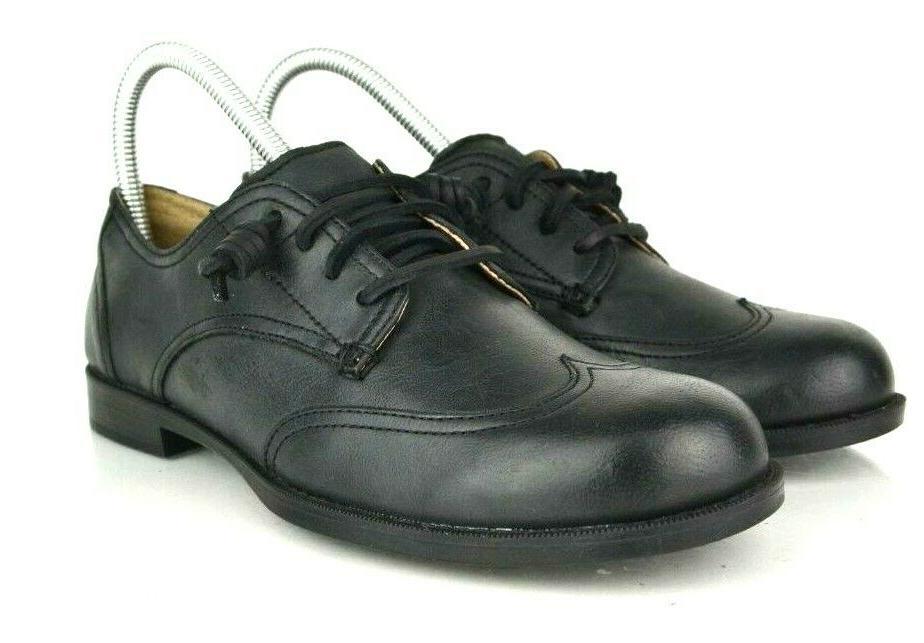 Sperry Devon Womens 7 Ivy Black Leather Slip On Tip Oxford Flats